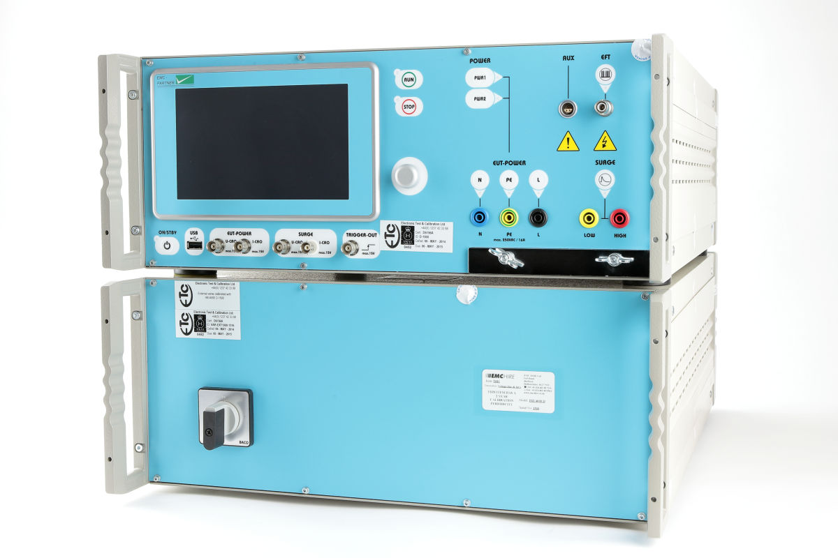 EMC Partner IMU4000D Voltage Dips and Interrupts Simulator & VAR-EXT1000 Programmable Variac